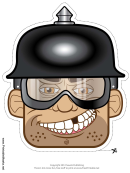 Biker Male Spike Helmet Mask Template