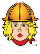 Construction Worker Female Mask Template