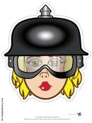 Biker Female Spike Helmet Mask Template