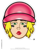 Baseball Female Mask Template