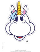 Happy Unicorn Mask Template
