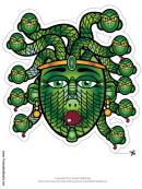 Medusa Mask Template