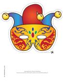 Mardi Gras Jester Mask Template