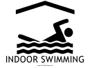 Indoor Swimming With Caption Sign