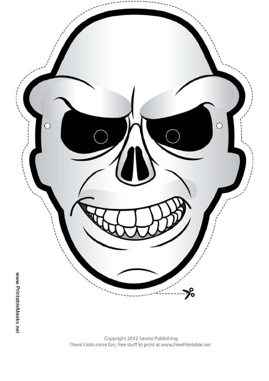 skull mask template printable pdf download