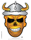 Skull Horns Mask Template