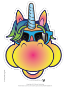 Cool Unicorn Mask Template