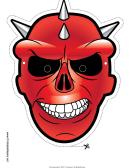 Skull Spikes Mask Template