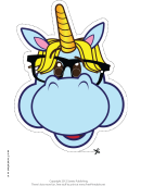 Geeky Unicorn Mask Template