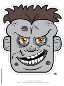 Zombie Mask Template
