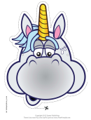 Worried Unicorn Mask Template
