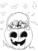 Candy Jack O Lantern Coloring Page