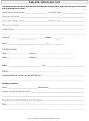 Babysitter Information Form