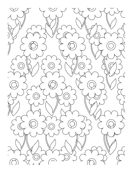 Dandelions Coloring Sheet Printable pdf