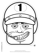 Racecar Driver Male Mask Outline Template