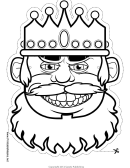 King Grin Mask Outline Template