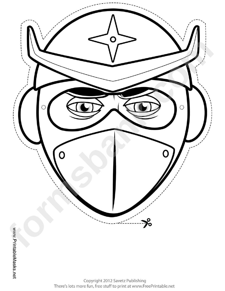 Ninja Star Mask Outline Template