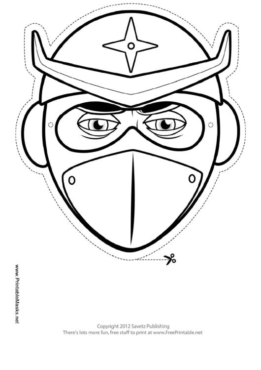 Ninja Star Mask Outline Template printable pdf download