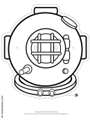 Bronze Diving Mask Outline Template
