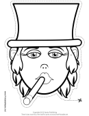 Tycoon Female Mask Outline Template