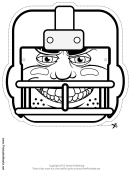Football Mask Outline Template