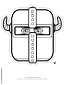 Knight Horns Mask Outline Template