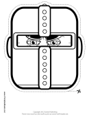 Knight Outline Mask Outline Template