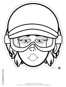 Biker Female Outline Mask Template