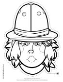 Explorer Female Outline Mask Template