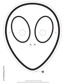 Alien Outline Mask Template