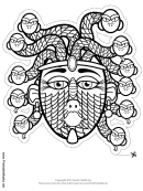 Medusa Outline Mask Template