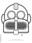 Robot Round Horizontal Mask Outline Template