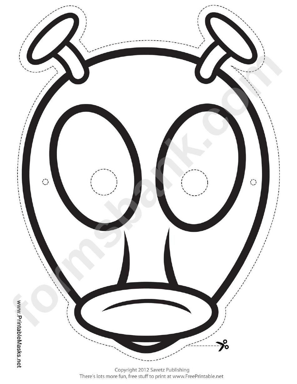 Alien Antenna Outline Mask Template Printable Pdf Download