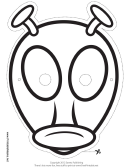 Alien Antenna Outline Mask Template