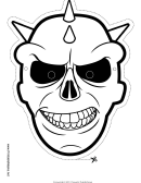 Skull Spikes Outline Mask Template