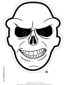 Skull Outline Mask Template