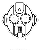 Robot Oval Outline Mask Template