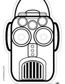 Robot Narrow Outline Mask Template