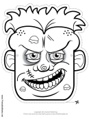 Zombie Outline Mask Template
