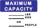 Maximum Lift Capacity Sign Template