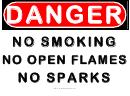 Danger No Flames Or Sparks