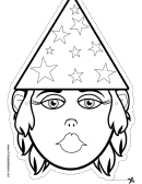 Wizard Female Outline Mask Template