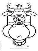 Cyclops Minotaur Outline Mask Template
