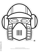 Robot Vertical Outline Mask Template