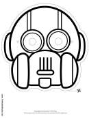 Robot Round Vertical Outline Mask Template