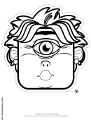 Cyclops Female Outline Mask Template