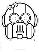 Robot Bow Outline Mask Template