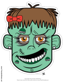Zombie Bow Outline Mask Template