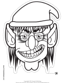 Goblin Female Outline Mask Template