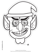 Goblin Male Outline Mask Template